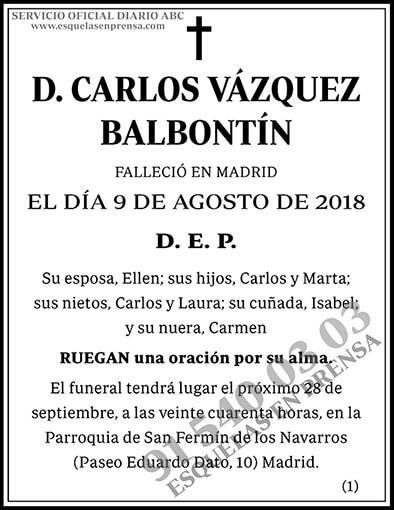 Carlos Vázquez Balbontín